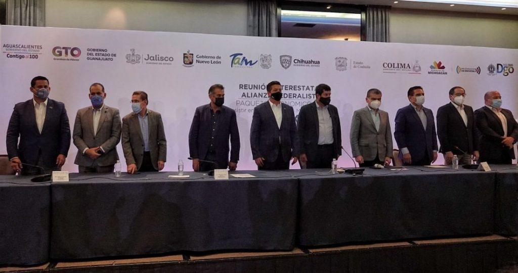 Diez gobernadores de la alianza piden a AMLO que no politice la seguridad և para exigir más dinero