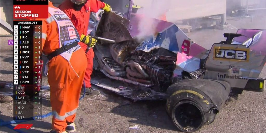 El buje rodante provoca una segunda bandera roja debido a un accidente grave
